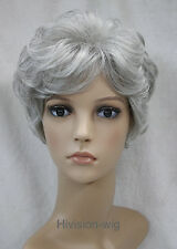 12 Color Short Curly Women Ladies Natural Daily Hair wig Hivision #3041