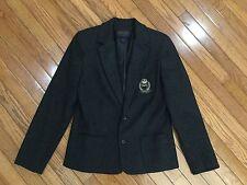 Ralph Lauren Classic Dark Gray Crested Blazer Size M