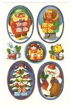 Abziehbild Schiebebild WEIHNACHTEN Matroschka Weihnachtsmann Teddy Hase DDR 1985