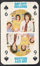 Monty Gum 1970's Gum Card - The Bay City Rollers Music Card - Six of Spades