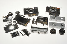 Rollei 35 lot of cameras disassembled and not complete only for parts