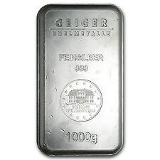 1000 Gram Geiger Security Line Silver Bar