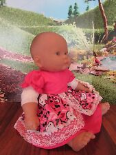 "doll clothes 14-16"" dress pink hello kitty berenguer/american bitty baby"