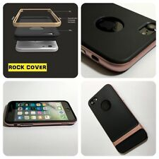 Cubierta de Rock Original Apple iPhone 7 caso híbrido Flex & Rígido Tpu Tech Oro Rosa