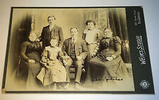 Antique Victorian Scottish Family! ID'd The Leitches! Old Glasgow Cabinet Photo!