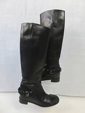 CHRISTIAN LOUBOUTIN EGOUTINA LEATHER BOOTS WITH STUDDED HEEL & TOE SIZE 3