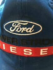 Ford Diesel Factory Blue Cap Hat Adjustable Embroidered Patch EUC