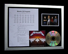 METALLICA Master Of Puppets LTD MUSIC CD FRAMED DISPLAY+EXPRESS GLOBAL SHIPPING