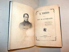 1a edizione - F.D. Guerrazzi: L'ASINO (sogno) 1857 Torino Franco Apuleio satira