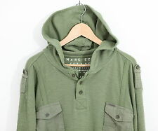 Marc Ecko Cut & Sew Deadly Threads XL Military Hoodie Green - See PICS!