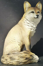 WARY  Fox Sitting  Statue Figurine   H13.5""