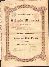 Charbonnages de BIELAIA (BELGIQUE DONETZ RUSSIE) (D)