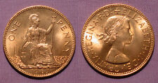 1967 ELIZABETH II ONE PENNY - UNC Full Lustre - Last Penny Issued