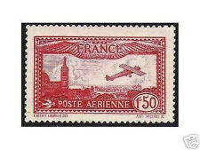 "FRANCE  YVERT AIR POST 5 SCOTT C5 "" VIEW OF MARSEILLE 1F50 CARMINE "" MNH VVF M11"