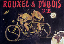 Art Decor -Tandem Bicycles French Cycle Bike - A3 Art Poster Print