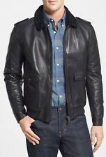 $2495 KENT and CURWEN LEATHER JACKET SIZE MADE IN ITALY