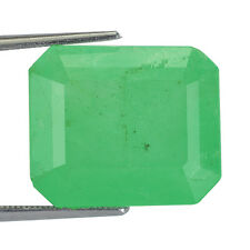 11.46CTS NATURAL GREEN COLOMBIA EMERALD RARE GENUINE GEMSTONE BIG SIZE