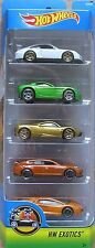 HOTWHEELS HW EXOTICS 5 PACK PORSCHE ALFA PAGANI LAMBORGHINI SPORT CAR HOT WHEELS