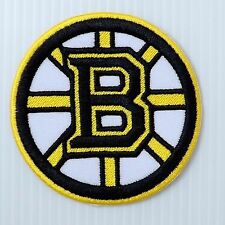 "2.3/4""x1p. boston bruins ice hockey embroidered iron on or sew on patch apparel"