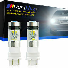DuraFlux 100W High Power 3157 3156 LED Backup Reverse Light Bulbs Samsung White
