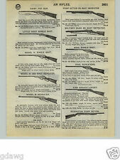 1932 PAPER AD Daisy King Brand Remington Air Rifle BB Gun Military Savage Toy