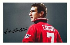 ERIC CANTONA - MANCHESTER UNITED AUTOGRAPHED SIGNED A4 PP POSTER PHOTO 1