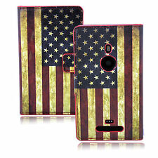 Card Slot PU Leather Phone Case Cover Stand Skin Pouch For Nokia Lumia 925