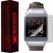 Skinomi Carbon Fiber Silver Skin+Screen Protector for Samsung Galaxy Gear Watch