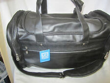New/Tag Golden Pacific 9879K Sport/Travel/Carry On Duffel Leather Bag Black