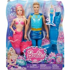 Barbie Pearl Princess Mermaid and Prince Ken Merman Dolls