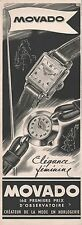 Publicité Montre Movado montres  Watch photo vintage print ad  1951  - 6i