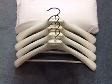 4 Long Reporter Clothing Designer Branded Suit Jacket Hangers Gray Plastic Beige
