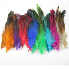 Fashion NEW mix Colors 40Pcs Feathers hair for extensions 6-8 inch 15-20cm long