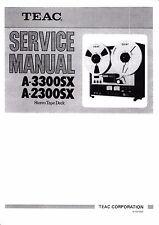 Service Manual-Istruzioni per TEAC a-3300sx, a-2300sx