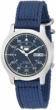 Seiko 5 SNK807K2 Men's Blue Nylon Fabric Band Military Automatic Watch