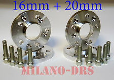KIT DISTANZIALI RUOTA 16+20mm BMW SERIE 5 E60 E61 Bullone CONICO