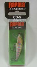 "Rapala Countdown CD-5 Rainbow Trout 2"" Sinking Crankbait Fishing Lure 3/16oz"