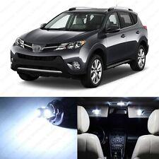 6 x Xenon White LED Interior Lights Package For 2013 and Up Toyota Rav4 Rav 4