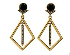 NEW Fashion Gold Black Danglers Drops Earrings Christmas Gift Secret Santa Party