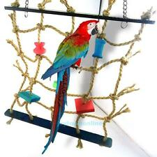 Parrot Small Bird Pet Fun Toy Rope Net Swing Ladder  Climbing Play Gym Supplies