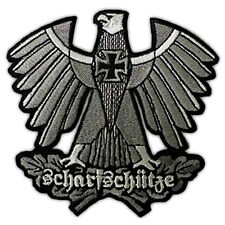 GERMAN ARMY SHARPSHOOTER SNIPER EAGLE IRON CROSS EMBROIDERED PATCH SCHARFSCHUTZE