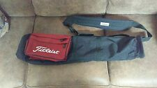 Titleist Golf Bag Carry Sunday Bag Black Red White Light Weight Single Strap