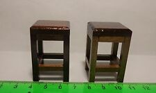 1:12 Scale Wooden  Stools ( 2) Dolls House Miniature ( Square )