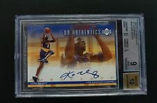 2000-01 UPPER DECK HARDCOURT KOBE BRYANT UD AUTHENTICS SIGNED BGS 9 AUTOGRAPH 10