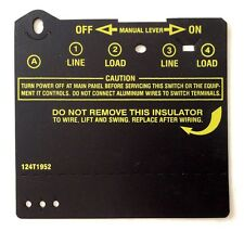 Intermatic Swimming Pool Timer Time Clock Cover Insulator, Black Part 124T1952