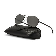 Ray Ban RB 8301 Carbon Fibre Aviator Sunglasses 002/K7 Black Mirrored Polarized