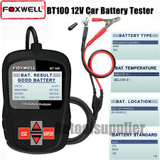 Foxwell BT100 Car Battery Analyzer AGM/GEL Auto Battery Tester Diagnostic Tool