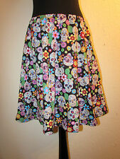 SKIRT RETRO 50'S STYLE NEW CANDY SUGAR SKULL GOTHIC BOW GOTHIC MADE TO MEASURE