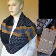 GUCCI Authentic New Diamante Designer Cowl Scarf Snood 100% Wool
