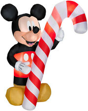 NEW 6 Feet Disney Mickey Mouse Candy Cane Airblown Inflatable Christmas Foot FT